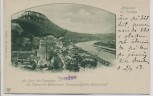 AK Königstein (Sächsische Schweiz) mit Festung Dampferpost Dampfer Dresden 1907