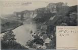 AK Rathen (Sächsische Schweiz) mit Bastei Dampferpost Dampfer Dresden 1907