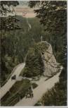 AK Höllental Ravennafelsen mit Auto bei Hinterzarten Schwarzwald 1909