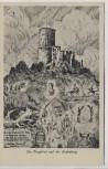 Künstler-AK Im Bergfried auf der Godesburg Gedicht Walther Krause b. Bad Godesberg Bonn 1928