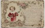 Künstler-AK Junge Knabe Kind mit Zweig Jugendstil 1900