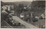 AK Foto Gablonz a. d. Neiße Jablonec nad Nisou Partie an der äusseren Gebirgsstrasse bei Schlag mit Straßenbahn Böhmen Tschechien 1930 RAR
