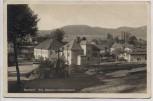 AK Foto Božanov Barzdorf Ortsansicht mit Kreuz und Fahnen b. Braunau Broumov Sudetengau Tschechien Feldpost 1943 RAR
