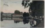 AK Benrath Schloss Am Schloßteich Düsseldorf 1909