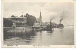 VERKAUFT !!!   AK Biebrich am Rhein An der Dampfer-Haltestelle Feldpost 1918