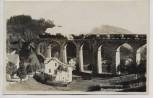 AK Foto Sommerfrische Morchenstern Ortsansicht mit Brücke Zug Bahn Smržovka Böhmen Tschechien 1933