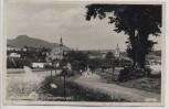 AK Foto Wünschelburg Ortsansicht mit Straße Heuscheuer Radków Schlesien Polen 1934
